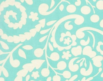 Silhouette in Aqua - McKenzie fabric by Dena Designs
