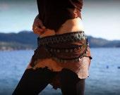 Leather Wrap Around Skirt