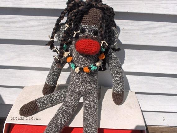 Reggae sock monkey