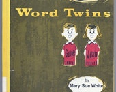 Word Twins by Mary Sue White 1961 for Grade 1 English Teaching book good home schooling tutoring book