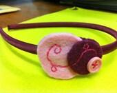 Pink circle hairband