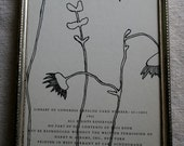 wildflowers original framed drawing