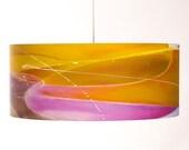 Citrus Sunrise Drum Shade Pendant Lamp