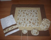 Handcrafted Quilt Set for Jewish Holiday, Bris, Baby Naming, and more