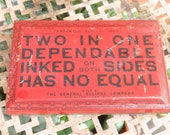Two in One Red Ink Pad Tin Made By General Eclipse Company