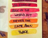 Same Love Twice canvas