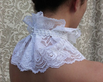 White French Lace Collar