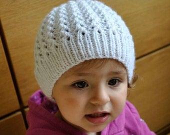 PDF KNITTING PATTERN Hat Adriana - Baby Toddler