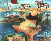 16x20 TEXAS print poster full color limited edition cowboy longhorn texana Free shipping