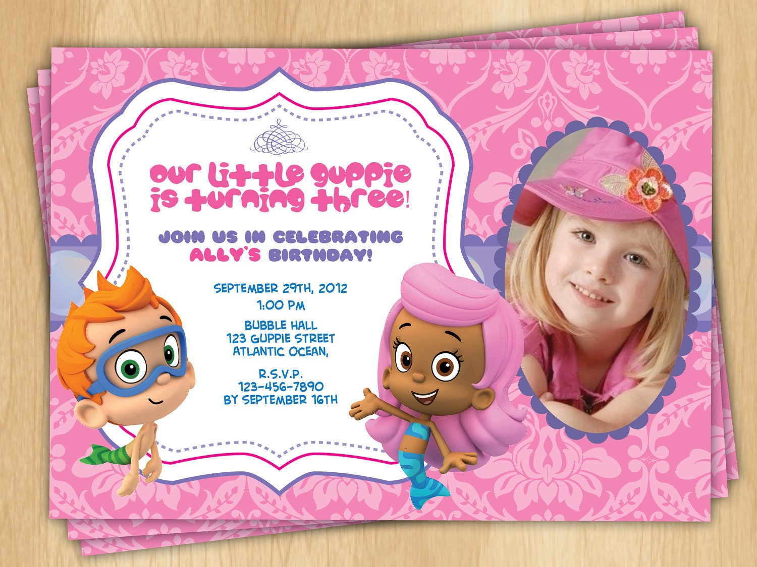 Free Bubble Guppies Invitation Template Party Invitations Ideas