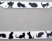 Custom Black Silhouette CAT License Plate Frame Cover Cats