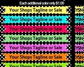 Affordable Etsy Banner and Avatar Many Colors with Polkadots