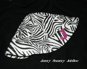Custom Made to Order - 0-12 month Zebra Sunhat with Pink Sparkle Monogram