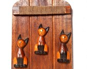 Wooden Pegs with Animal Motif