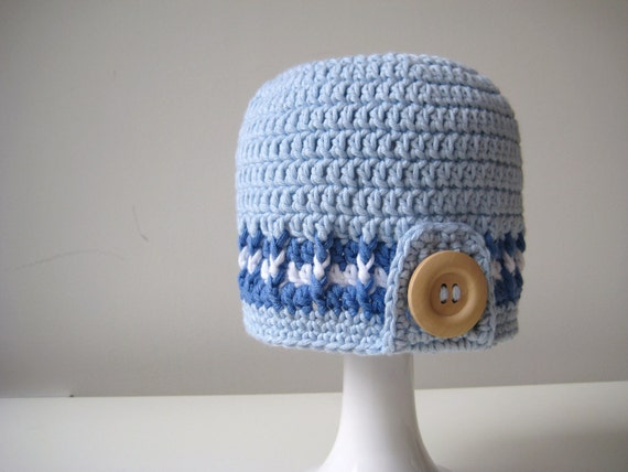 Crochet Pattern Boy Surfer Hat INSTANT DOWNLOAD PDF baby, simple, beginners, uk and us crochet terms No5