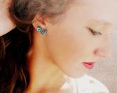 Blue Shape Stud Earrings