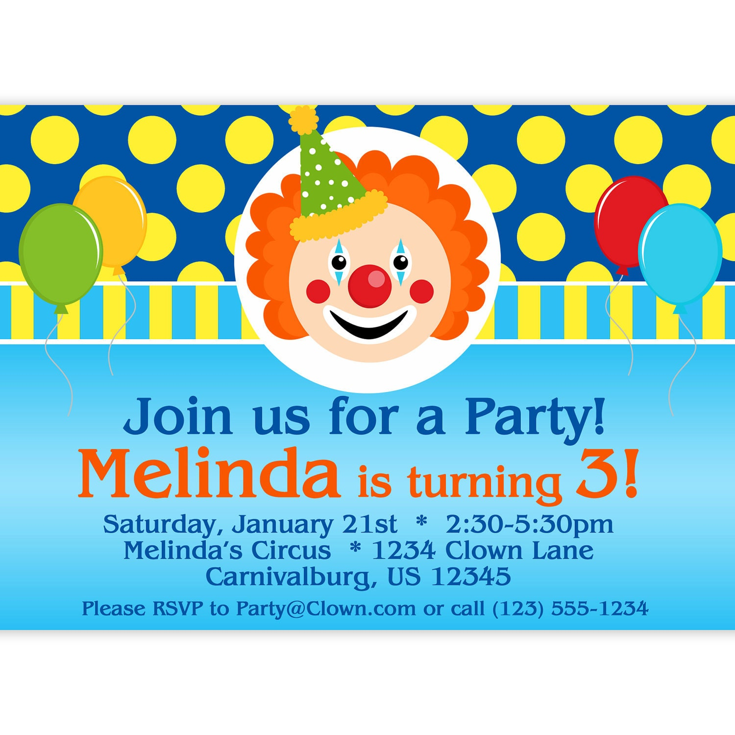Carnival Party Invitation for awesome invitation template