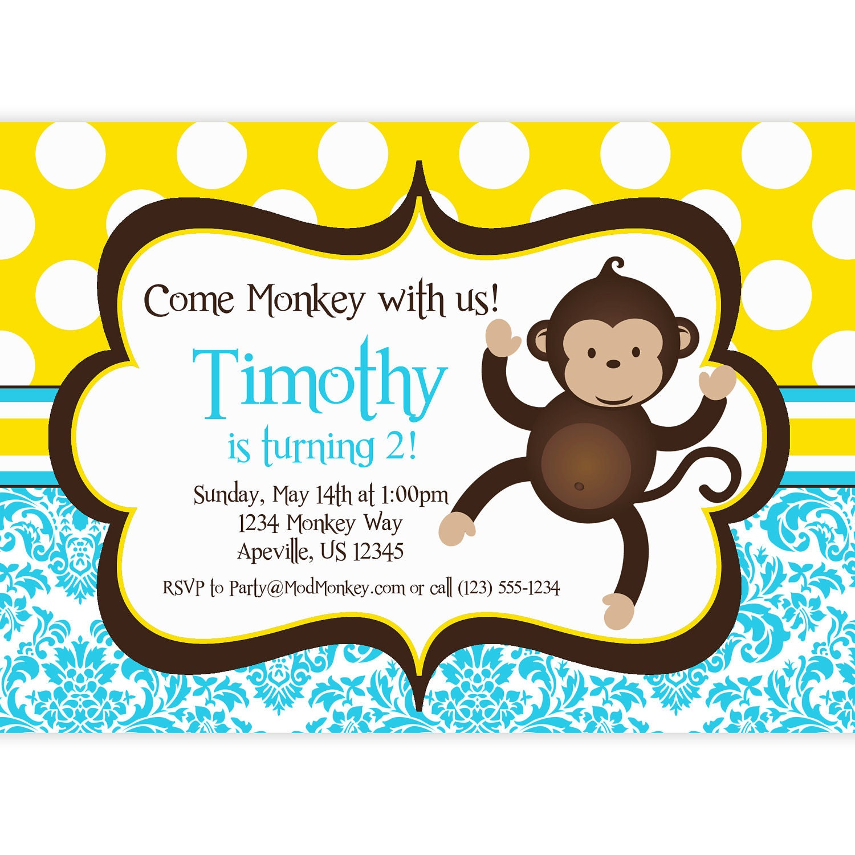 Monkey Birthday Invitations was very inspiring ideas you may choose for invitation ideas
