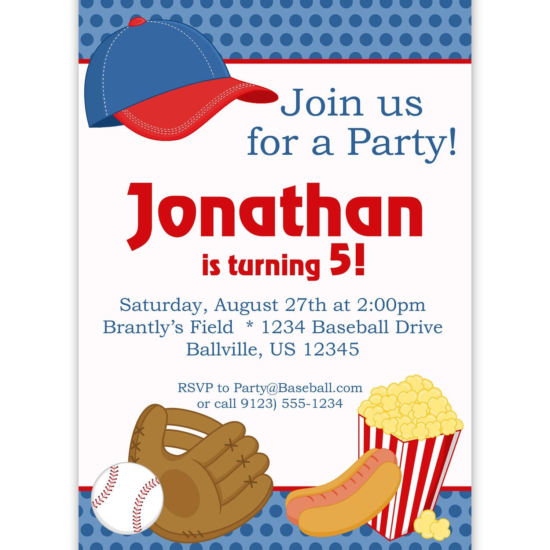 Baseball Themed Birthday Party Invitations futurecliminfo