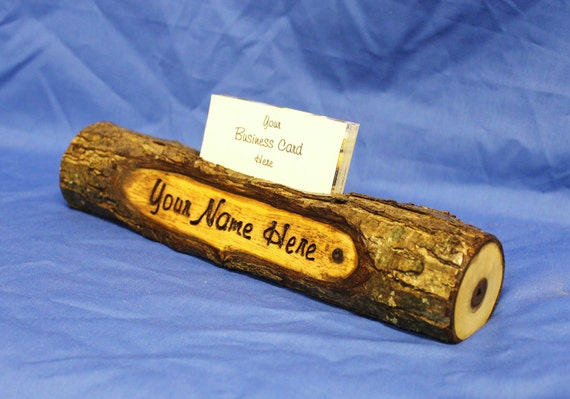 Custom made Log Name Plate and Buisness Card Holder