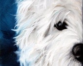 PRINT Westie West Highland Terrier Dog Puppy Art Oil Painting Home Decor / Mary Sparrow Smith