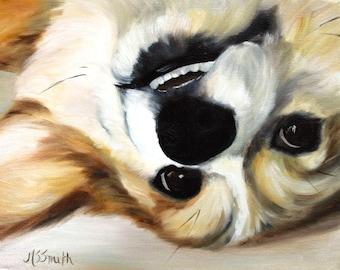 PRINT Pembroke Welsh Corgi Dog Puppy Art Oil Painting Home Decor Gift Ideas / Mary Sparrow Smith