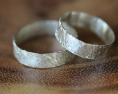 Nature Textured Silver Ring, Sterling Silver RIng, Hammered Silver, Silver Jewelry