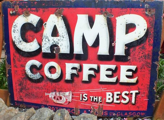 Items similar to CAMP COFFEE SIGN Photograph Rusty Tin ...