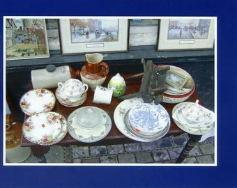 Antiques on the street - photo card