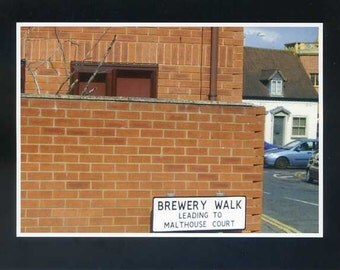 Brewery Walk leading to Malthouse Court - photo card