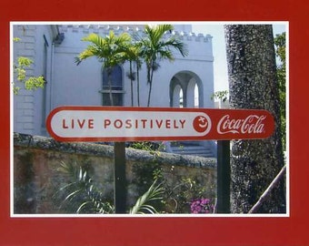 Live positively - photo card