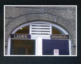 Ladies and Disabled - photo card