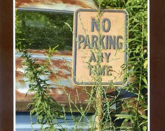No parking any time - photo card