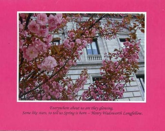 Henry Wadsworth Longfellow quote - photo card