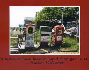 Gas tanks - photo card