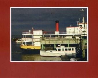 Island ferry - photo card