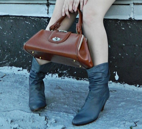 Grey Slouchy 80's DINGO Boots