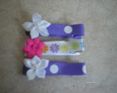 Flower Hair Clippies
