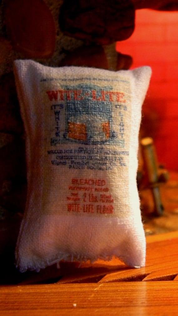 Wite Lite  Flour Sack - Miniature Dollhouse Sized - Baton Rouge Grocery Store Flour Sack