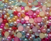 Assorted 6mm flat back pearl cabochon