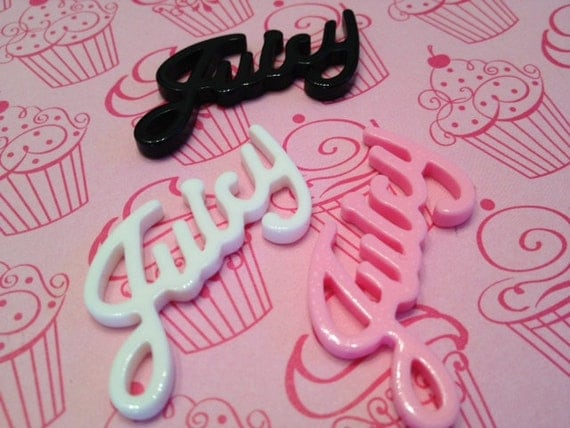 Juicy Kawaii Couture Cabochon Wording for Decoden
