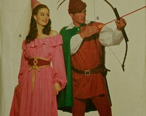 Robin Hood and Maid Marian Costume  Butterick  5749 Uncut   Size XS to M