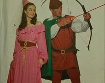 Robin Hood and Maid Marian Costume  Butterick  5749 Uncut   Size L and XL