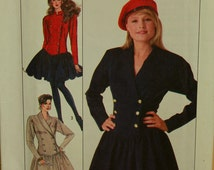 Double- Breasted Dress -1980's-  Simplicity Pattern 8800  Uncut Size 8 or 10