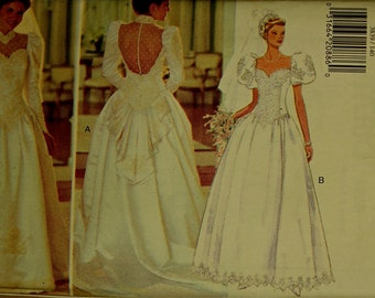 """Princess or Bridal Gown -1990's- McCall's Pattern 3839 Uncut Sizes 14-16- 18  Bust 36 -38- 40"""""""