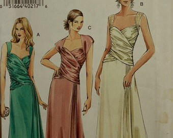 Evening Gown Vogue Pattern 8150 Uncut Sizes 6-8-10  Bust  30.5-31.5-32.5""