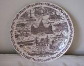 Vintage Commemorative Plate of Iowa