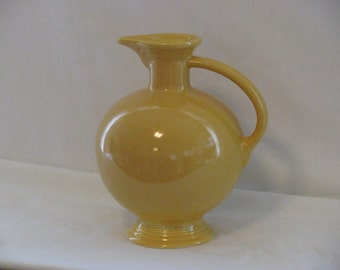 REDUCED Old Fiesta Ware Yellow Carafe,