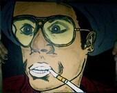 Portrait of Raoul Duke from Fear and Loathing in Las Vegas