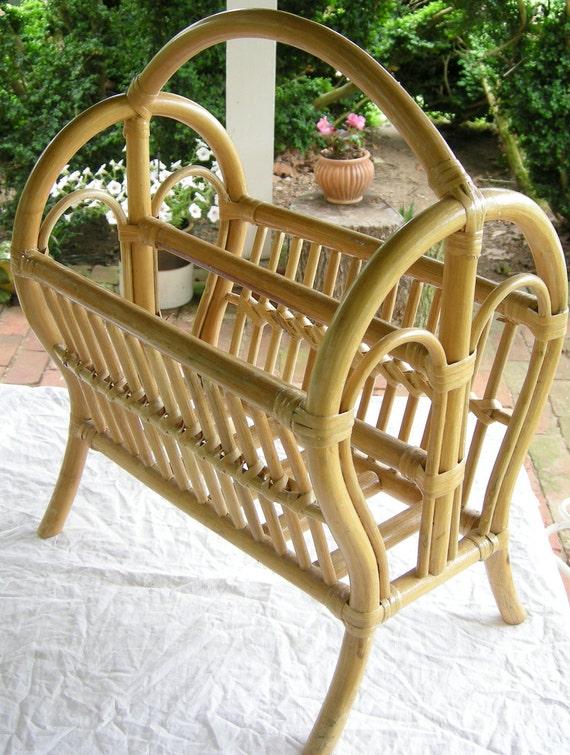 Heywood Wakefield Bamboo Magazine Rack
